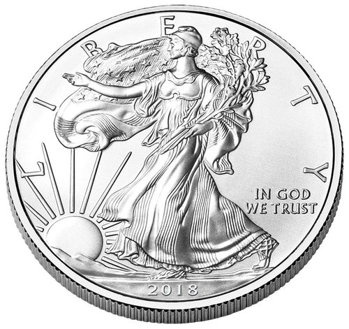 500x471 2018 American Silver Eagle Roll Of 20