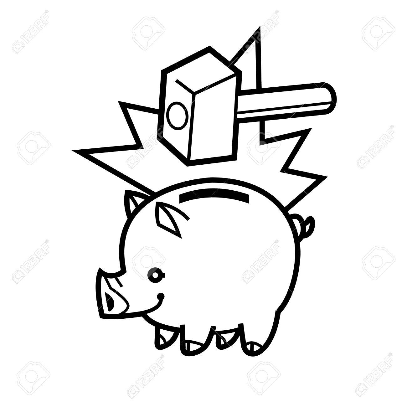 1300x1300 Piggy Bank Symbol Of Wealth Finance And Money Saving And Money