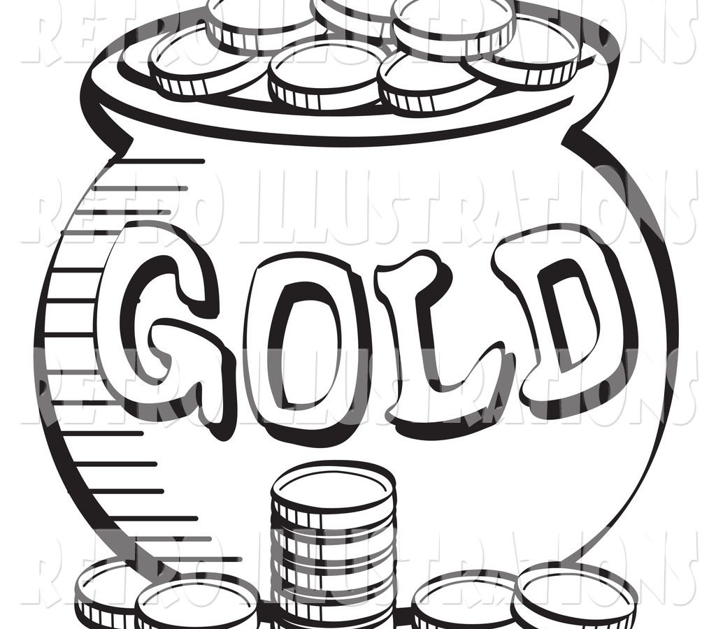 1024x900 Download Coins Coloring Page To And Print Free Coin Printable Kids
