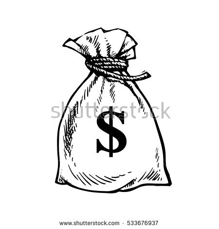 450x470 Drawn Purse Money