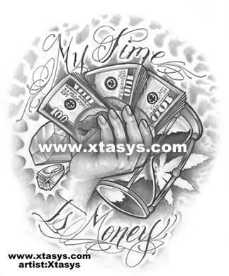 323x390 Get Money Tattoos Designs Money Tattoo Flash Art Money Money