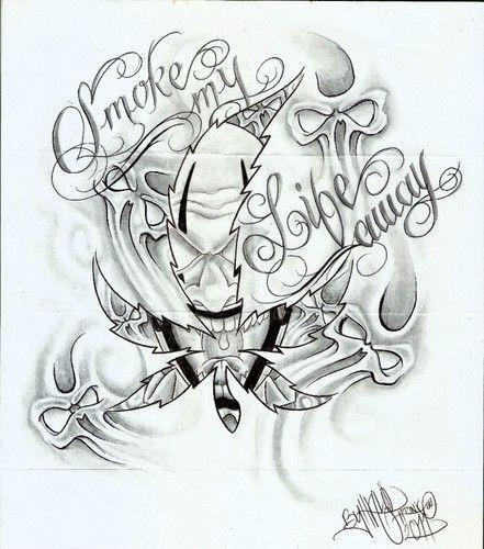 441x500 Money Tattoo Flash Designs