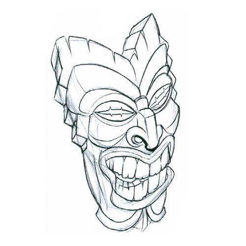 500x500 Tiki Drawings