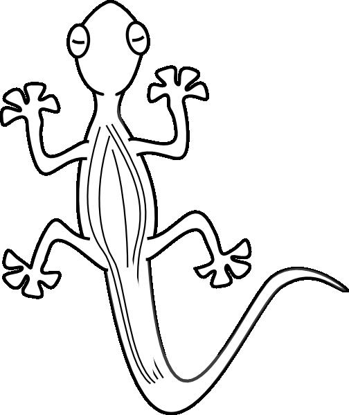 504x599 Lizard Outline Clip Art