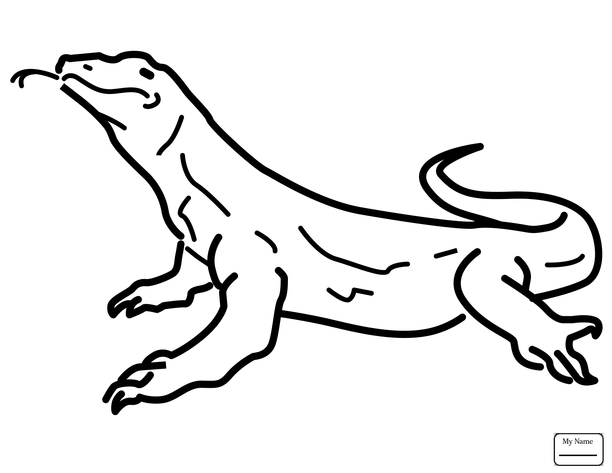 1975x1526 Monitor Lizard Coloring Pages Snake Coloring Pages