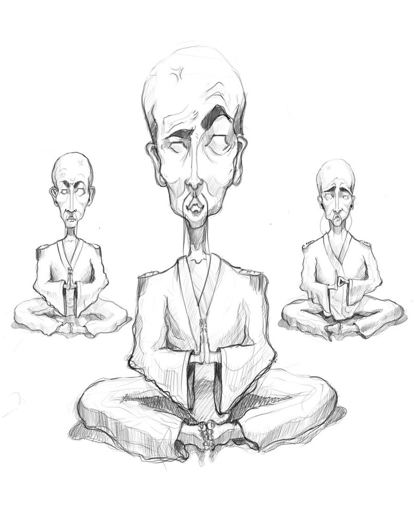810x987 Image Result For Monk Meditating Tat Art Search