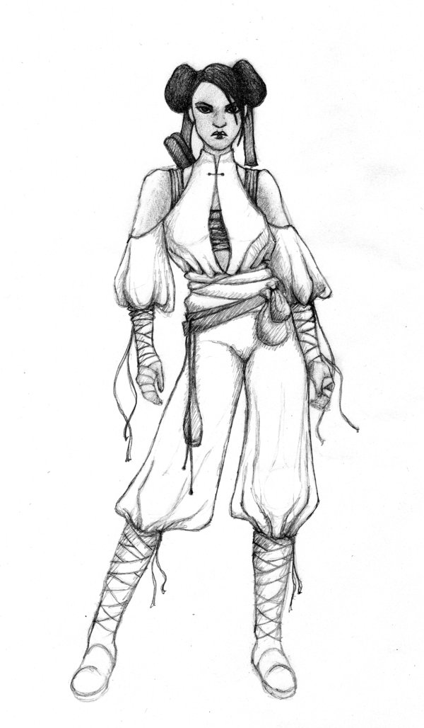 600x1028 Monk Sketch 1 By Wonderlandart Dungeons And Dragons