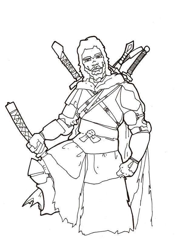 600x813 Monk Warrior Sketch By Jasonwelcome