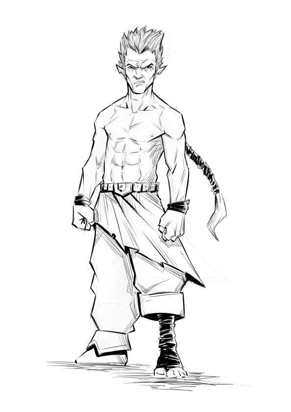 594x841 Rpg Fantasy Character, Male, Halfling Monk