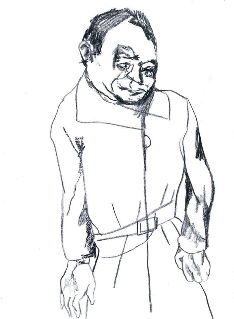 770x1050 Saatchi Art Monk Cum Spy Drawing By Pedro Uribe Echeverria