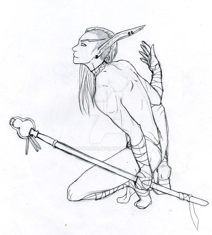 848x942 Blood Elf Monk W.i.p By Donaruie