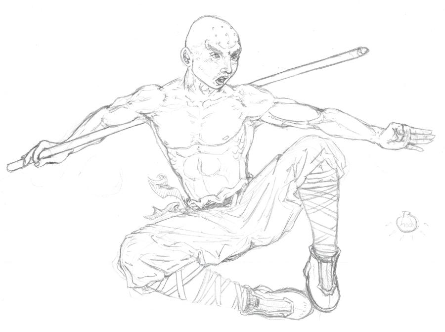 900x671 Shaolin Monk By Stefanxp