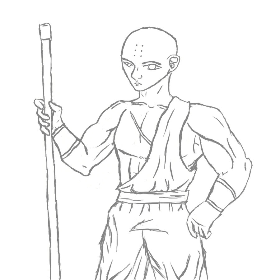 900x900 Shaolin Monk By Xeonort