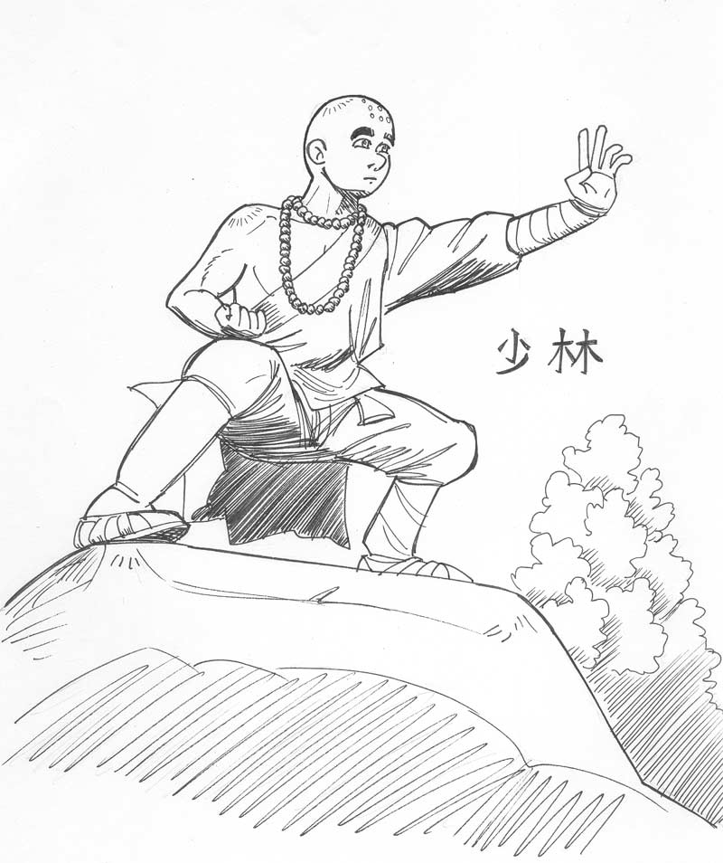 800x954 Shi Ling The Shaolin Monk By Avary