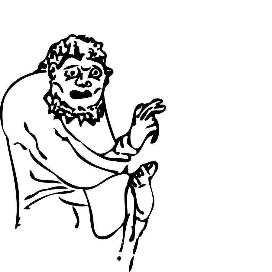 900x900 Strange Monk Drawing By Karl Addison