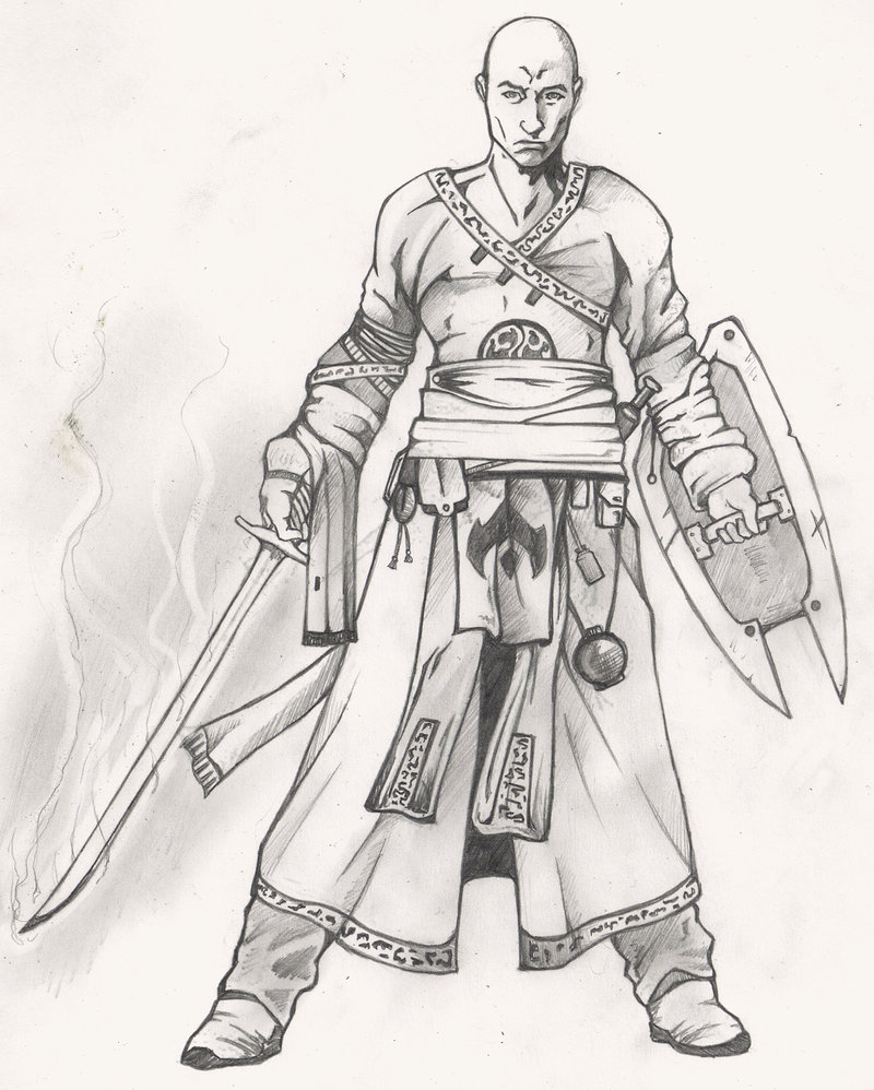 800x998 Warrior Monk Concept Art By Christopher Stoll