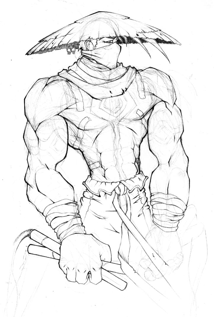 723x1072 Martial Arts Monk Sketch By Firefromheaven