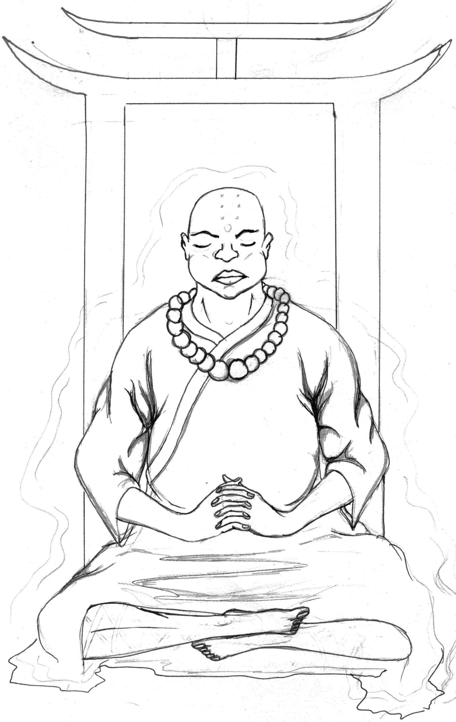1487x2353 Buddhist Monk