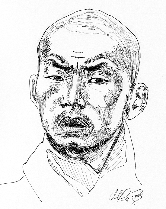 550x692 Buddhist Monk By Grini