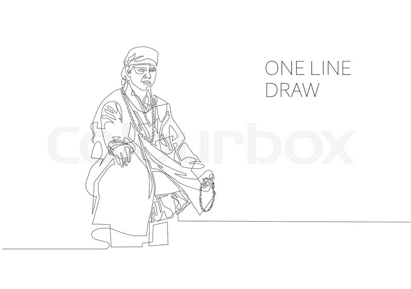 799x563 Continuous One Line Modern Drawing Of Buddhist Monk Sits
