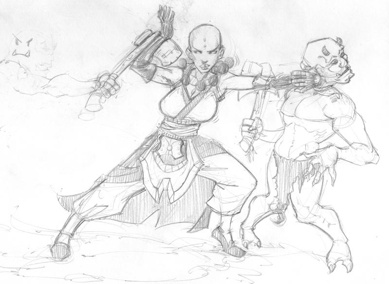 800x585 Diablo 3 Female Monk Sketch By Beonarri