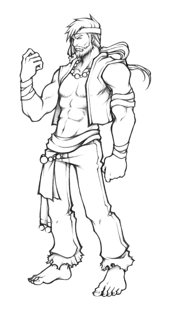 661x1208 Dissidia Monk Of Light Sketch By Isaiahjordan