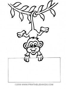 222x300 Hanging Monkey Cartoon Group