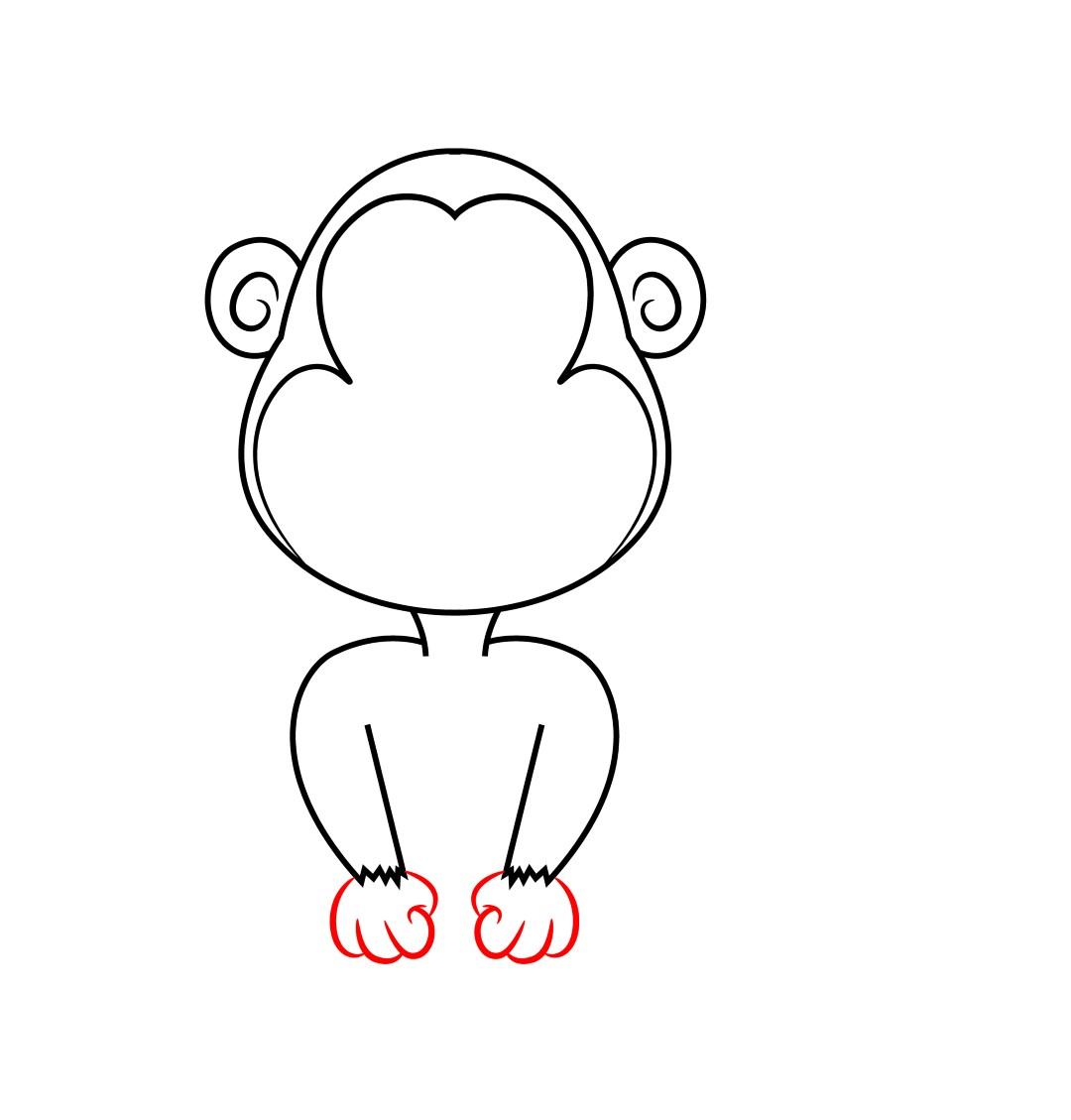 1080x1129 How To Draw A Cartoon Monkey