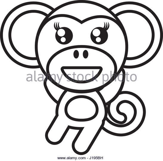 547x540 Monkey Cartoon Drawing Animal Vector Stock Photos Amp Monkey Cartoon