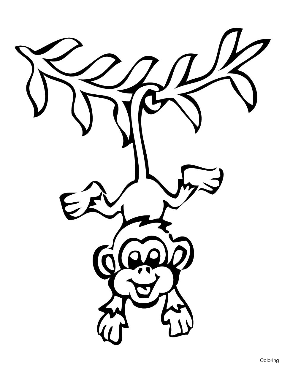 950x1230 Monkey Cartoon Drawing Drawings Of Monkeys How To Coloring 6f Step