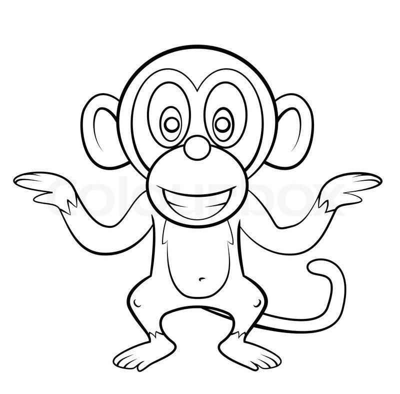 800x787 Monkey Cartoon Stock Vector Colourbox