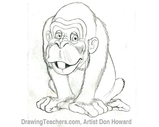550x440 Cartoon Monkey