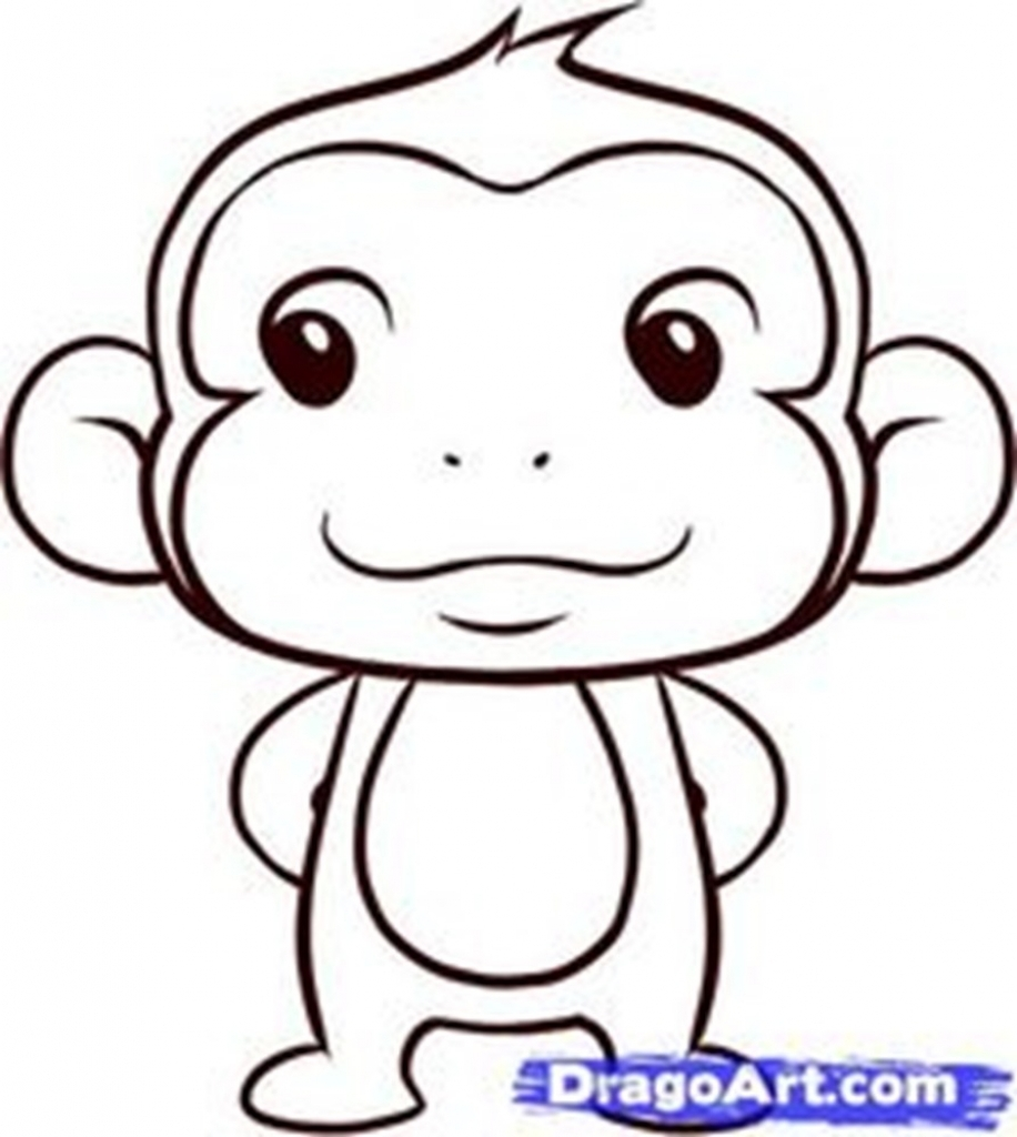 916x1024 Easy Monkey Drawing Monkey Drawing Best Images Collections Hd