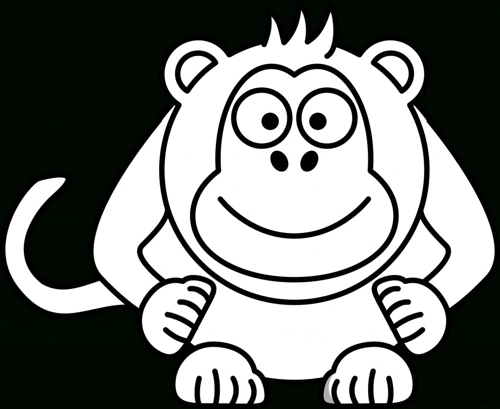 1024x839 Monkey Cartoon Drawing Drawings Of Monkeys How To Coloring 6f Step