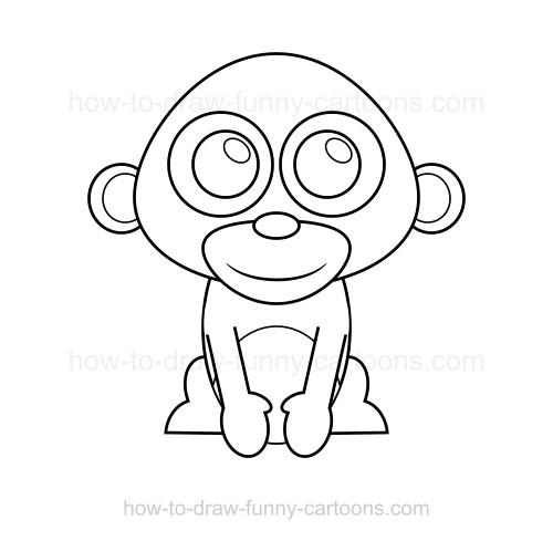 500x489 To Draw A Monkey