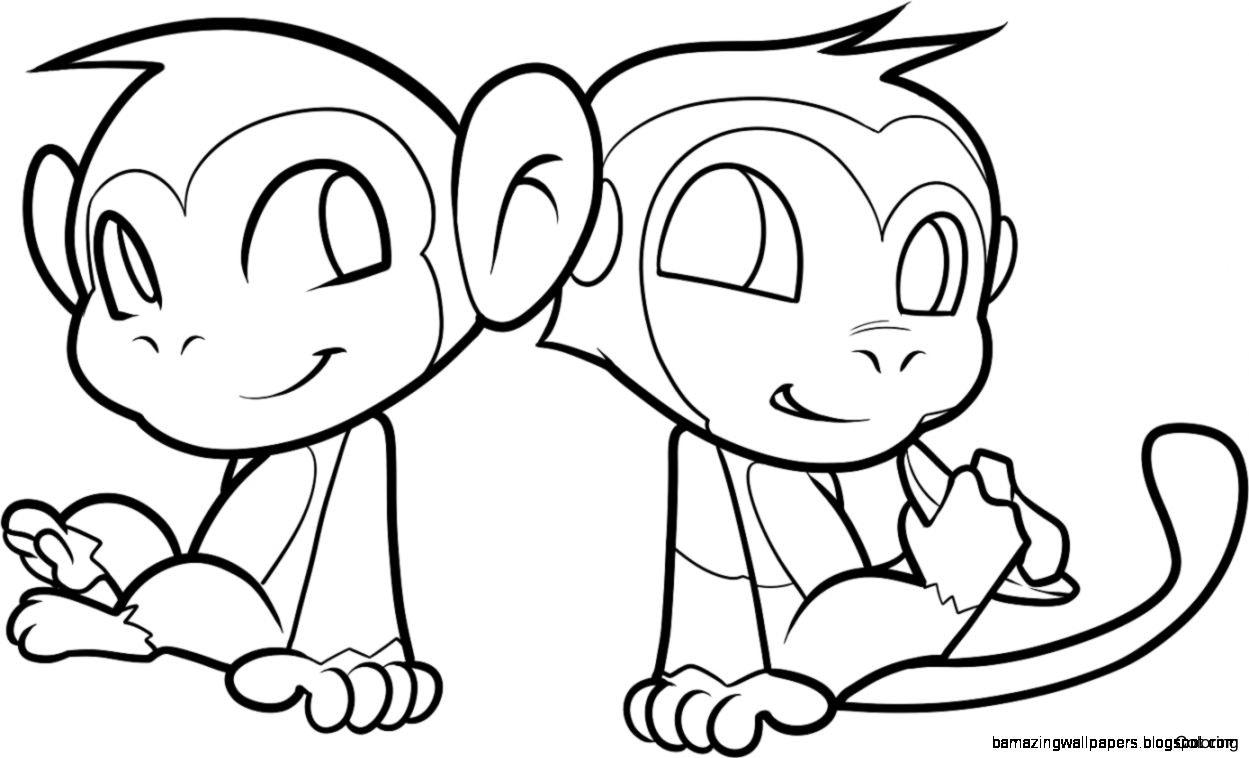 1249x758 Cute Drawings Of Monkeys Monkey Drawing Free Download Clip Art