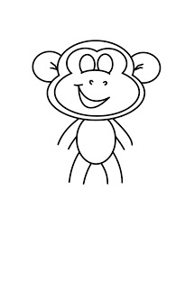 215x320 How To Draw Cartoons Monkey