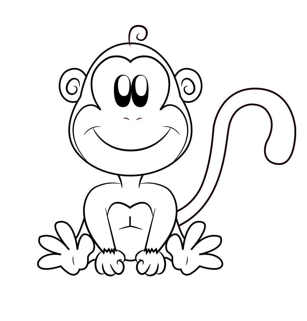 1080x1129 Monkey Cartoon