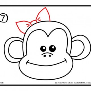 320x320 Tag For Loving Monkey Cartoon Drawing Two Cartoon Monkeys