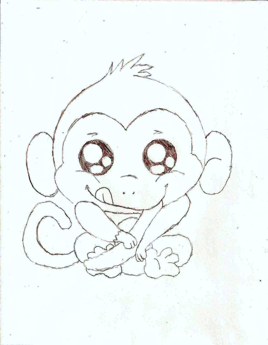 900x1159 Cute Baby Monkey Drawings Monkey Drawing Cute How To Draw A Baby