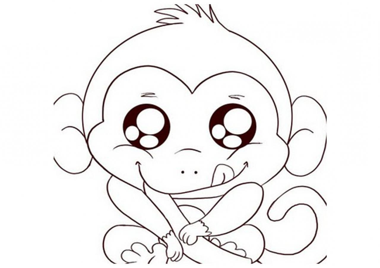 1280x904 Cute Drawings Of Monkeys Cute Baby Monkey Drawings Baby Monkey