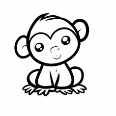 236x236 How To Draw A Chimpanzee For Kids