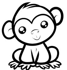 219x230 How To Draw A Simple Monkey, Step By Step, Forest Animals, Animals