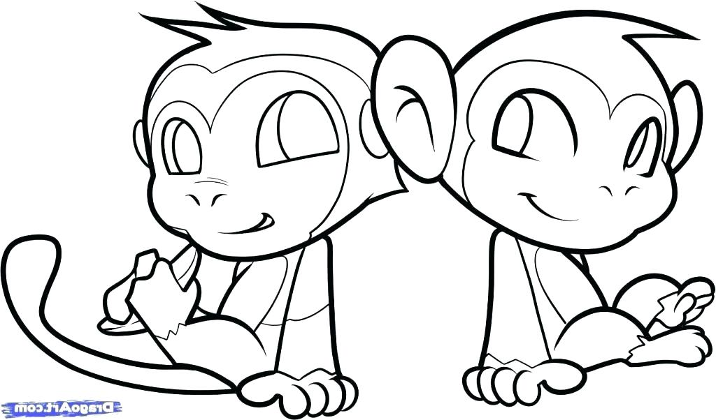 1024x602 Spider Monkey Coloring Pages Best Of Cute Monkey Coloring Pages