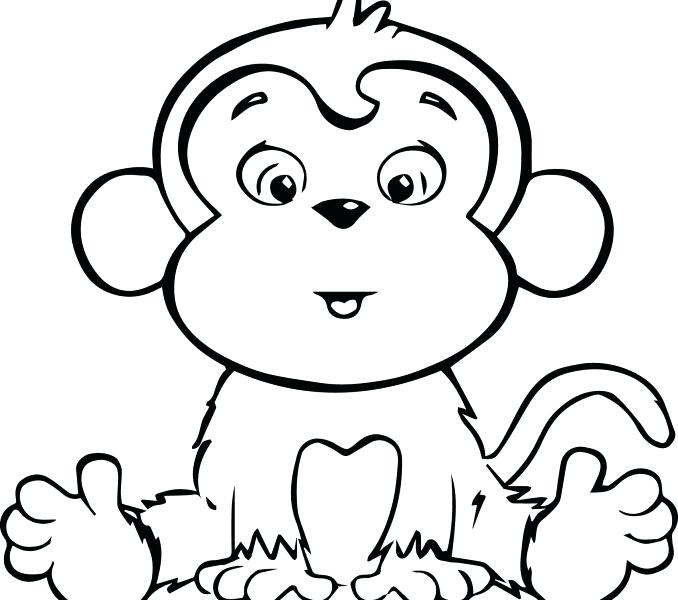678x600 Cartoon Monkey Coloring Pages Cartoon Monkey Coloring Pages