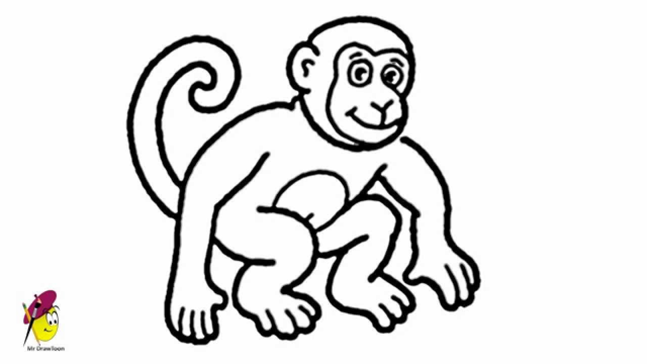 1280x720 Drawing Of A Monkey Art For Kids How To Draw A Monkey Drawing