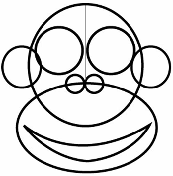 350x356 How to Draw Cartoon Monkeys with Easy Step by Step Drawing