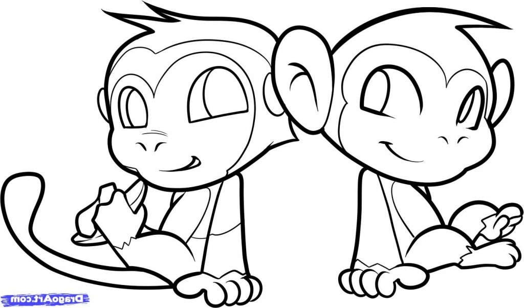 1024x602 Simple Drawing Of A Monkey 9 Pics Of Simple Monkey Coloring Pages