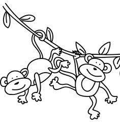 236x254 Swinging Monkey Cartoon