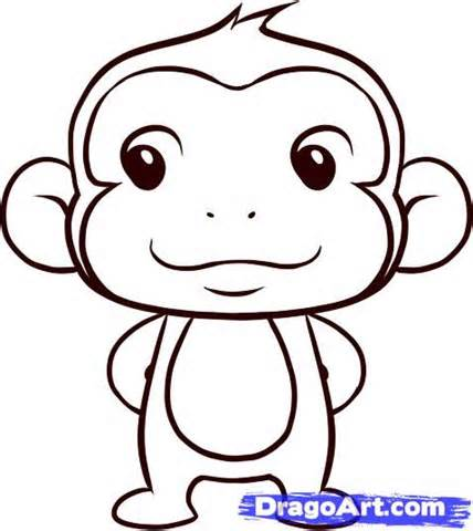 Monkey Drawing Easy At Getdrawings Com Free For Personal Use